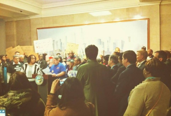 Calling for more affordable housing in our city with Chicago Housing Initiative