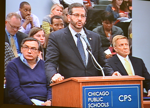 My testimony at the CPS board meeting regarding the vote on charter school expansion