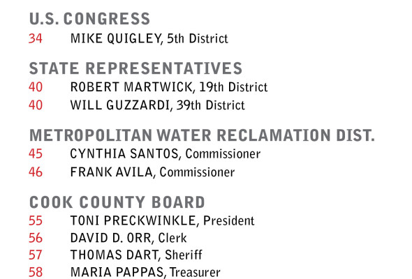 45TH Ward Endorsed Candidates
