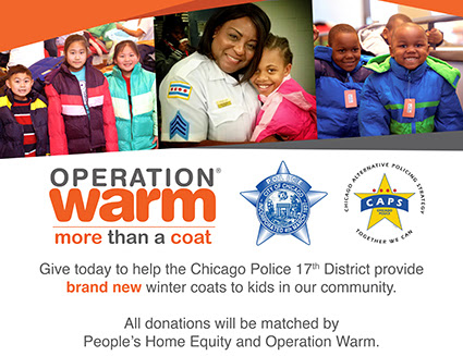 Be a Hero for Children in Need of Warmth in the 17th District